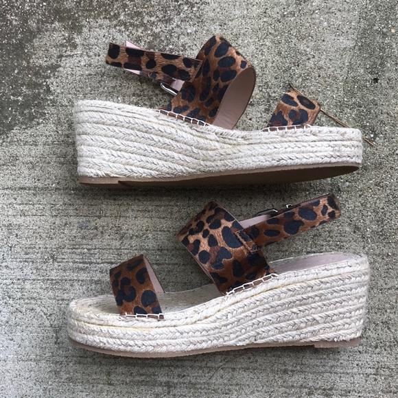 ASOS Shoes - ASOS espadrille leopard wedges SOLD!!